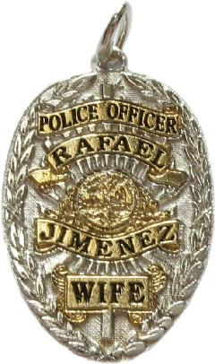 Custom police and fire fine jewelry 2d badge pendants custom 2d two tone sterling silver or 14k white gold mini badge jewelry pendant in mozeypictures Choice Image